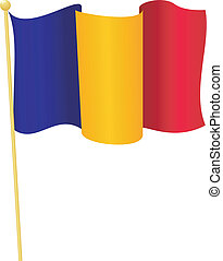 flag of Romania vector - vector illustration of flag of...