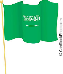 flag of Saudi Arabia vector - vector illustration of flag of...