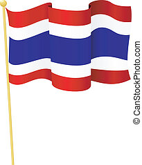 flag of Thailand vector - vector illustration of flag of...