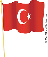 flag of Turkey vector - vector illustration of flag of...