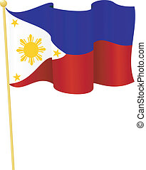 flag of Philippines vector - vector illustration of flag of...