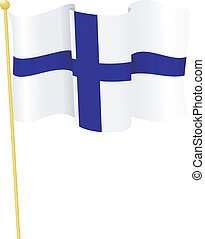 flag of Finland vector - vector illustration of flag of...