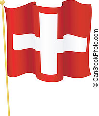 flag of Switzerland vector - vector illustration of flag of...