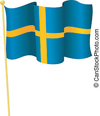 flag of Sweden vector - vector illustration of flag of...