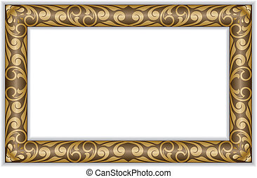 Gilt frame - rectangular gilt frame in the old style