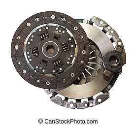 auto parts - automotive engine clutch Isolated on white with...