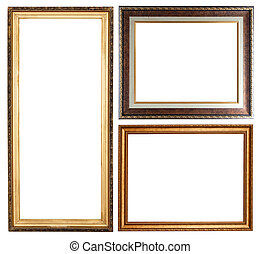 few picture frames - Set of few picture frames Isolated over...