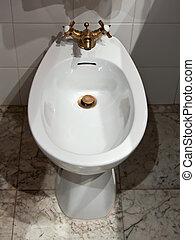 bidet in clean room - toilet bidet in clean room with brass...