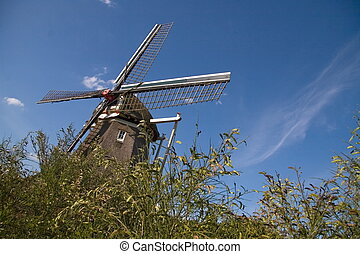 "Mill ""Zaandplatte\"" The Netherlands"