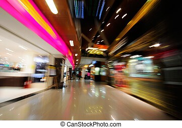 shopping mall - Picture of shopping mall background blurred...