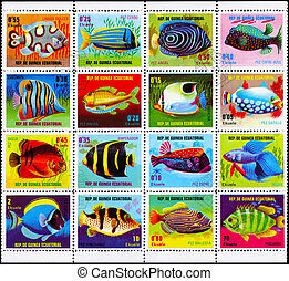 EQUATORIAL GUINEA - CIRCA 1974 Fish Collection - EQUATORIAL...