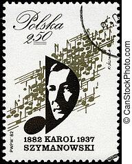 POLAND - CIRCA 1982 Szymanowski - POLAND - CIRCA 1982: A...