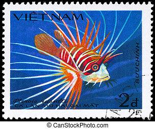 VIETNAM - CIRCA 1984 Lionfish - VIETNAM - CIRCA 1984: A...