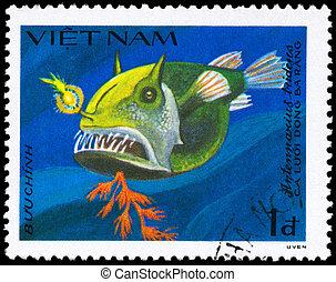 VIETNAM - CIRCA 1984 Frogfish - VIETNAM - CIRCA 1984: A...