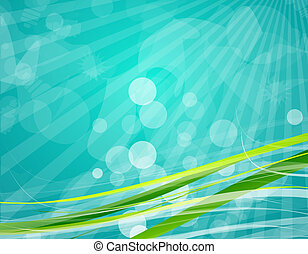 Green vector lines - Vector abstract illustration for your...