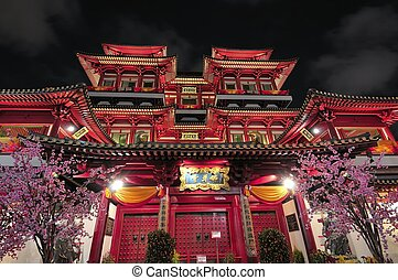 Asian style Buddhist temple