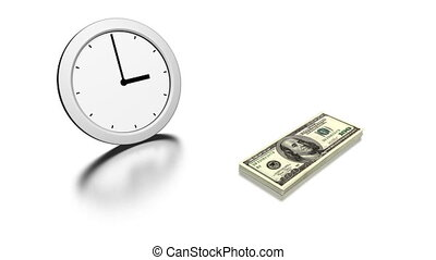 time is money, 3d animation
