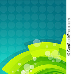 Green techno wave - Vector abstract illustration for your...