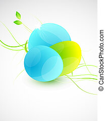 Glass shapes background - Vector abstract illustration for...