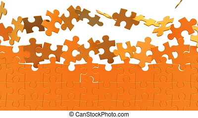 Puzzles background, 3d animation
