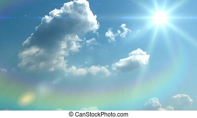 sky background - sky with the sun background