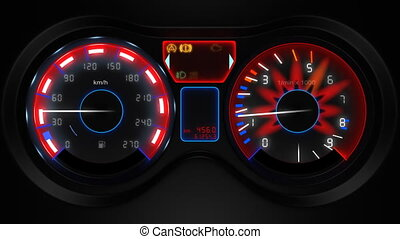 car dashboard 3d animation