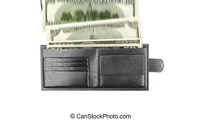 wallet and money, 3d animation
