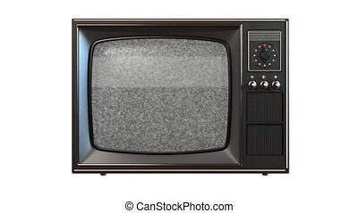 old tv with turning channels, 3d animation