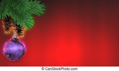 Christmas background, loop-able 3d animation