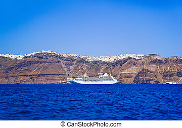 Santorini view (Greece) - travel background