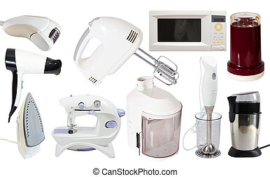 Set of  household appliance