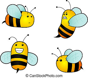 Cartoon bees Vector Illustration