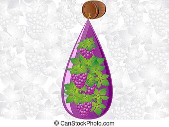 A drop of grape wine