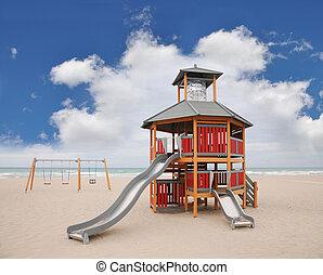 Playground Slide Swings Beach - Playground Equipment Slide...