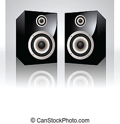 Vector Audio Speakers Illustration
