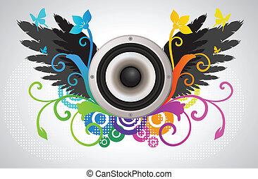 Floral audio speaker