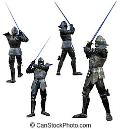 Knight Swordsman in Full armour - Knight Swordsman in Full...
