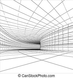 Abstract tunnel - Tunnel - abstract sketch of architectural...