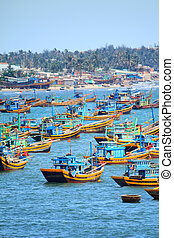 Fishing boat - Photo of fishing boats on the sea, Vietnam,...