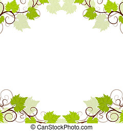 Garden grape vines frame.