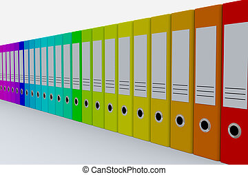 Colorful archive folders.