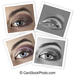 eye retouching before and after - before and after of a...