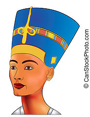 nefertiti - vector - Image of the queen of ancient Egypt -...