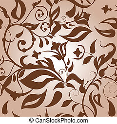 Classic seamless - Classic floral seamless light brown...