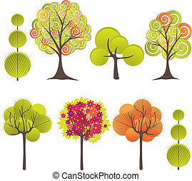 Abstract tree Vector illustration - Abstract background with...