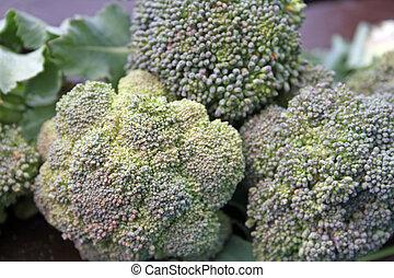 home grown broccoli