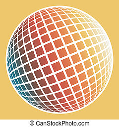 Multicolored globe design - Multicolored globe design made...