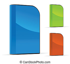 Vector set of software boxes - Set of software boxes Vector...