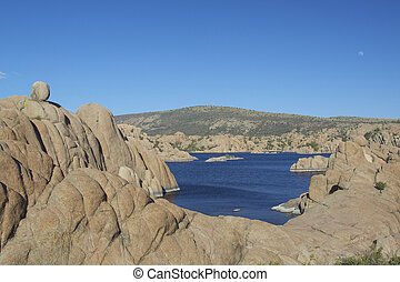 Watson Lake Prescott Arizona - granite formations surround...