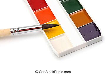 paint brush painters palette